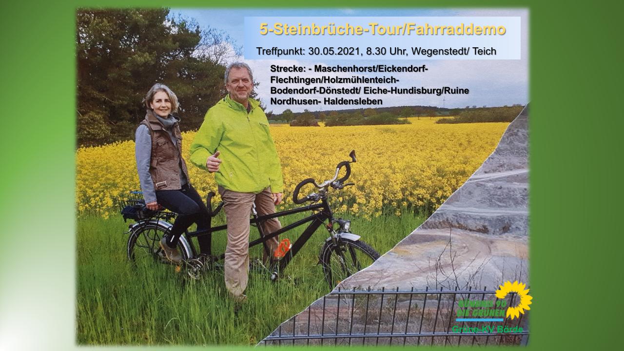 Fünf-Steinbrüche-Tour von Wegenstedt nach Haldensleben am 30.05.2021